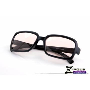 抗藍光最佳利器!MIT視鼎Z-POLS 經典質感黑(百搭大框)專業設計PC 材質抗藍光眼鏡