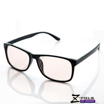 抗藍光最佳利器! 沉穩風格(簡約韓流質感黑)MIT視鼎Z-POLS專業設計PC材質 抗藍光眼鏡