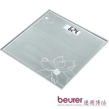 【 德國博依beurer】典雅花卉玻璃體重計GS10
