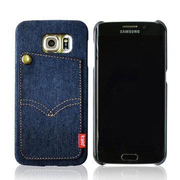 Kalo 卡樂創意 Galaxy S6 丹寧牛仔口袋保護殼 手機殼 背蓋 深藍色