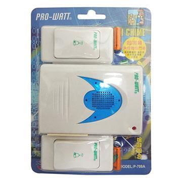 PRO-WATT 超高頻無線數位門鈴 雙按鈕組(P-708A)