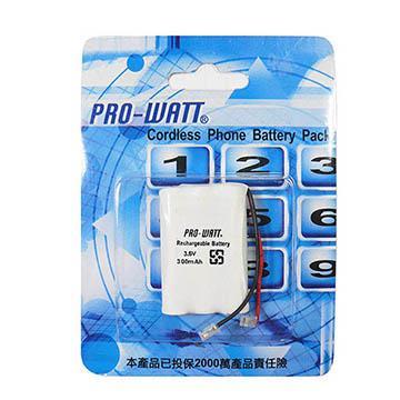 PRO-WATT  萬用接頭 無線電話電池3.6V 300mah (尺寸: AAA**3)P140