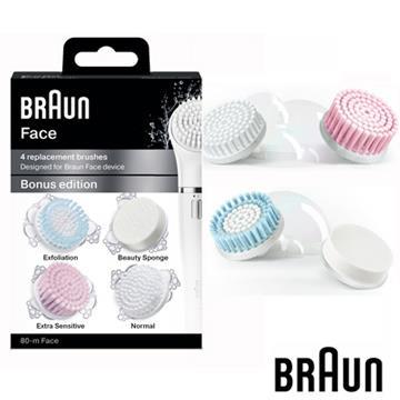 【德國百靈BRAUN】Face刷頭組合包(4入一盒)SE80-m