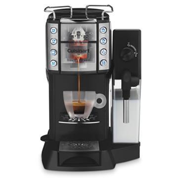 【美膳雅 Cuisinart】Espresso 頂級膠囊咖啡機 (EM-600TWBK)贈【illy】咖啡膠囊-口味隨機出貨(42入/罐)