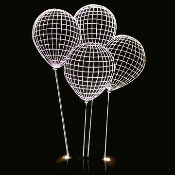 LED 立體造型夜燈-氣球