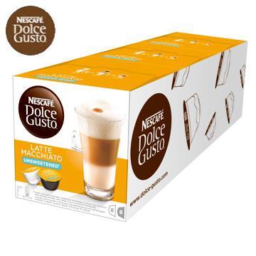 雀巢咖啡-無糖拿鐵咖啡膠囊(一組3盒)