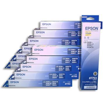 EPSON #7753(S015506)/LQ300原廠色帶(黑色/1組12入)