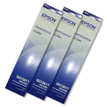 EPSON S015611(S0515555)/LQ690C原廠色帶組(黑色/1組3入)