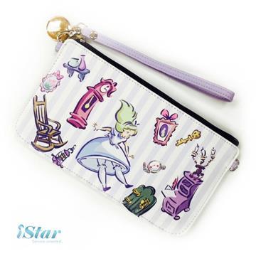 手機袋 迪士尼 正版授權 直式/橫式 手機包/手機保護袋/手機套-愛麗絲