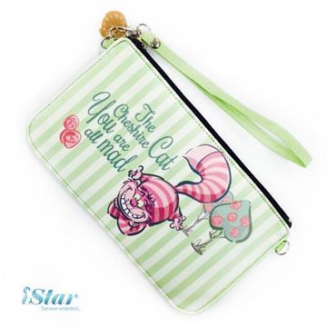 手機袋 迪士尼 正版授權 直式/橫式 手機包/手機保護袋/手機套-柴郡貓
