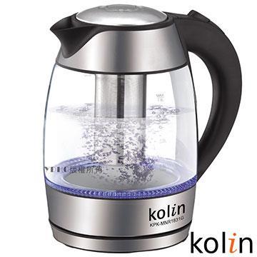 【Kolin歌林】1.8L泡茶玻璃快煮壺 KPK-MNR1831G