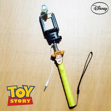 正版迪士尼 經典人物立體造型 伸縮線控自拍棒/自拍神器 皮克斯系列 - 胡迪 0011
