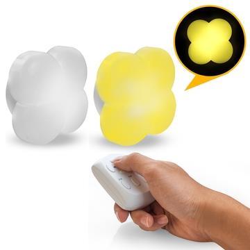 USB充電式 幸運草造型 智能遙控燈-黃光