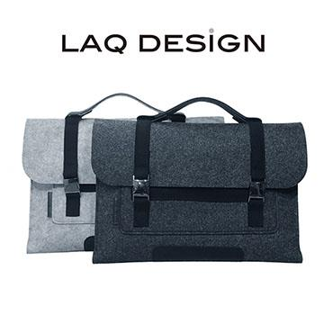 LAQ DESiGN 13吋 筆電/平版 羊毛氈手提包-深灰