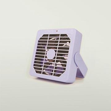 清新迷你馬卡龍色靜音USB風扇 紫色