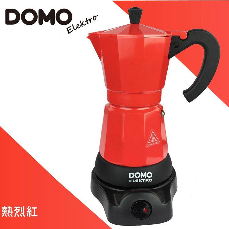 比利時DOMO-經典電動摩卡壺DM413KT-紅 (共六色可選)