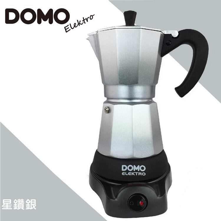 比利時DOMO-經典電動摩卡壺DM413KT-銀 (共六色可選)