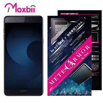 Moxbii SAMSUNG Galaxy C9 Pro 抗衝擊 9H 太空盾 螢幕保護貼(非滿版)