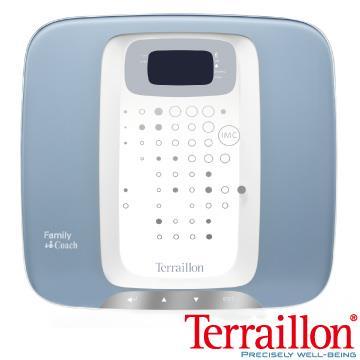 【Terraillon】和樂家大鏡面玻璃BMI體重機-天使藍