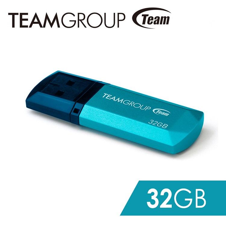 Team 十銓科技 C153璀璨星砂碟-冰雪藍-32GB