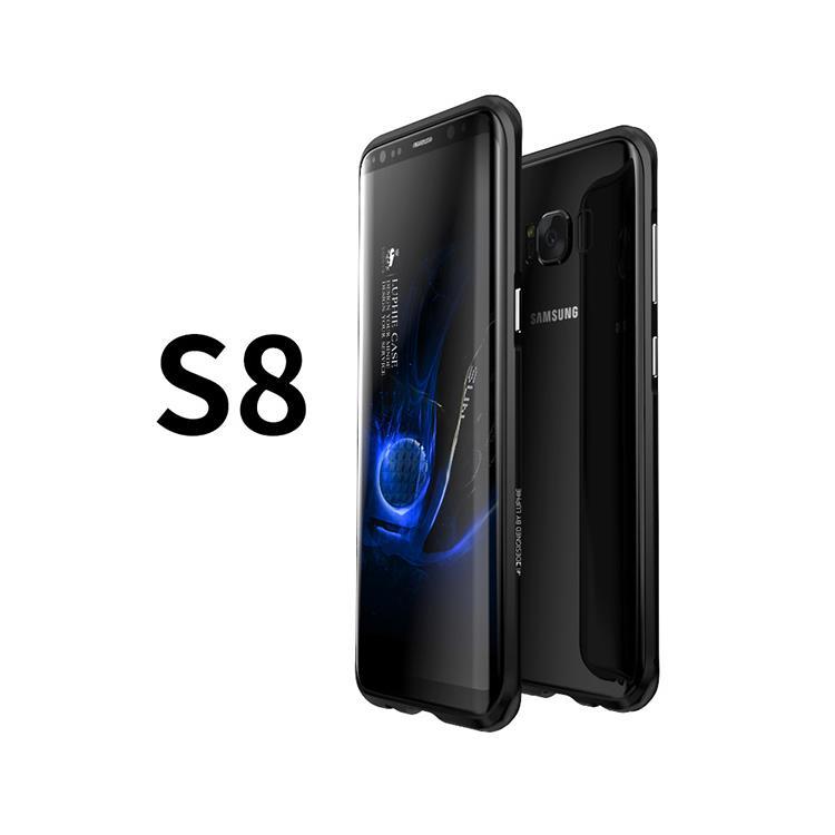 SAMSUNG S8 鋁鎂合金 防摔金屬邊框 手機殼 保護殼 - 晶墨黑