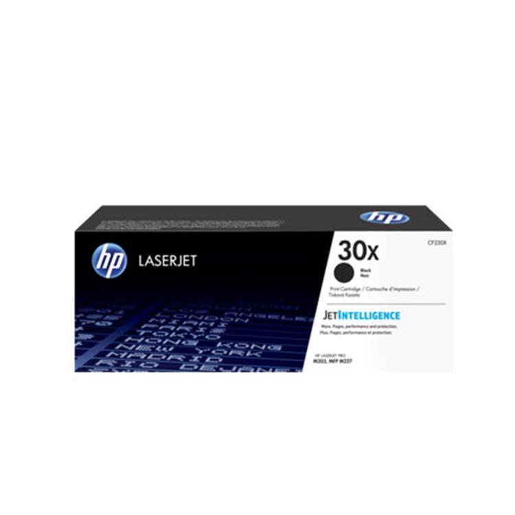 HP 30X 黑色原廠 LaserJet 高容量碳粉匣 (CF230X)