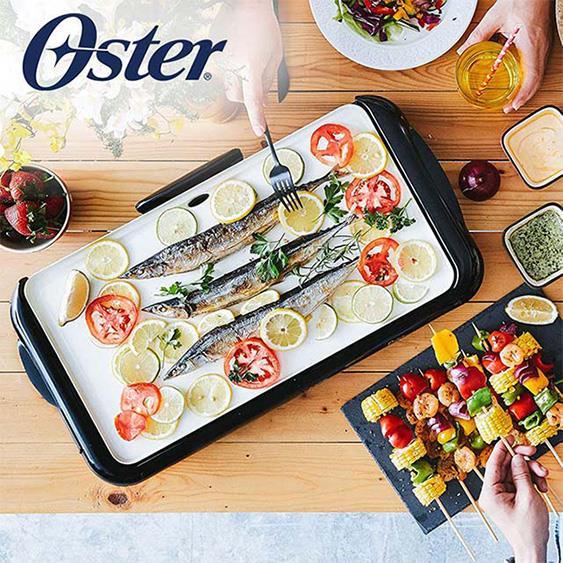 美國OSTER -BBQ陶瓷電烤盤 CKSTGRFM18W-TECO