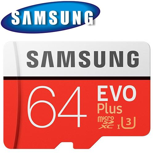 SAMSUNG 三星 64GB 100MB/s EVO Plus microSDXC TF U3