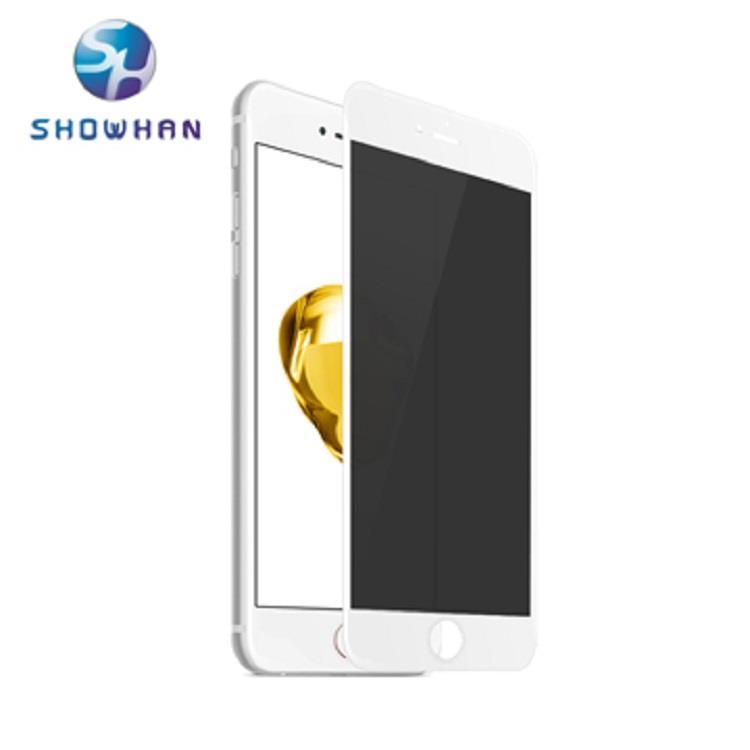【SHOWHAN】iPhone 7/8 3D曲面康寧防窺鋼化保護貼(白色)