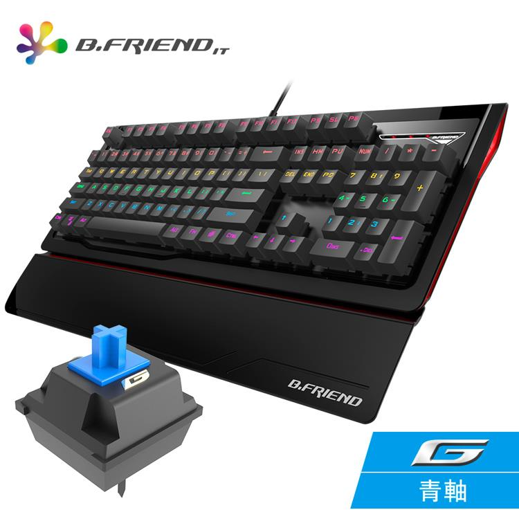 B.FRIEND MK1st(青軸)多彩發光機械鍵盤