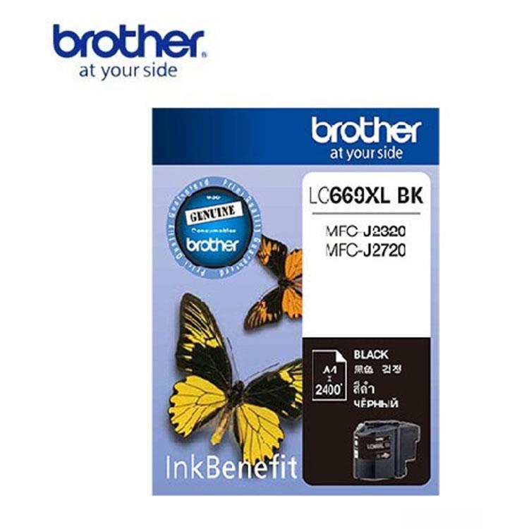 Brother LC669XL-BK 原廠黑色墨水匣