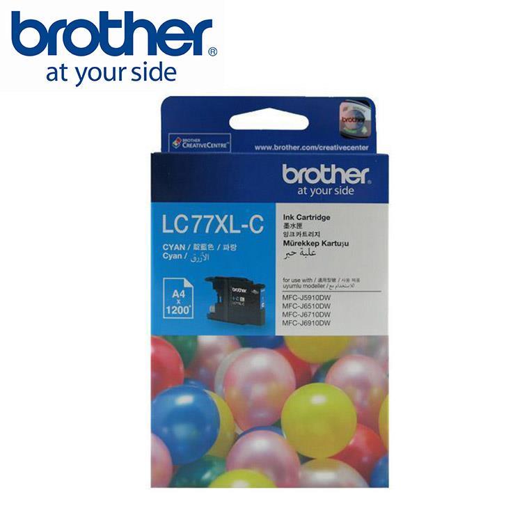 Brother LC77XL-C 原廠超大容量藍色墨水匣