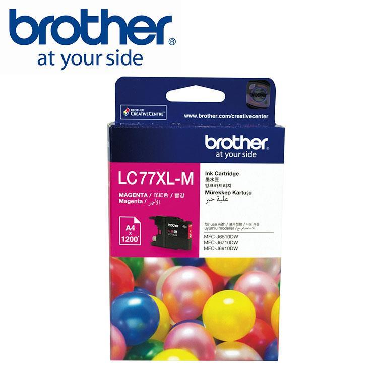 Brother LC77XL-M 原廠超大容量紅色墨水匣