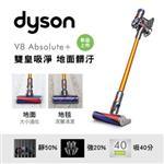 【dyson 戴森】V8 Absolute+ SV10 無線吸塵器(香檳金)