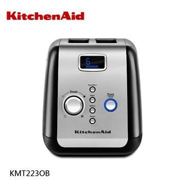 【KitchenAid美國】烤麵包機(按鍵式)兩槽 KMT223OB 黑色