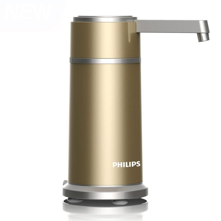【飛利浦 PHILIPS】五重濾淨 櫥上型超濾淨水器-香檳金(WP3884)送專用濾芯**1