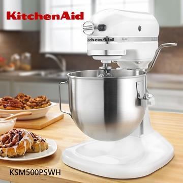 【KitchenAid美國】KSM500 5QT 升降式攪拌機 -白 KSM500PSWH