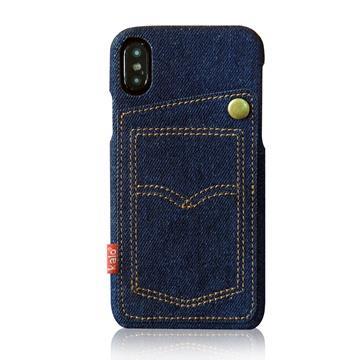 Kalo 卡樂創意 iPhone X 個性丹寧口袋保護殼