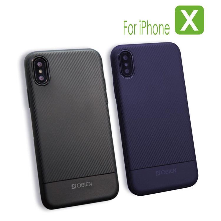 Obien iPHONE X全包式TPU碳纖維保護殼