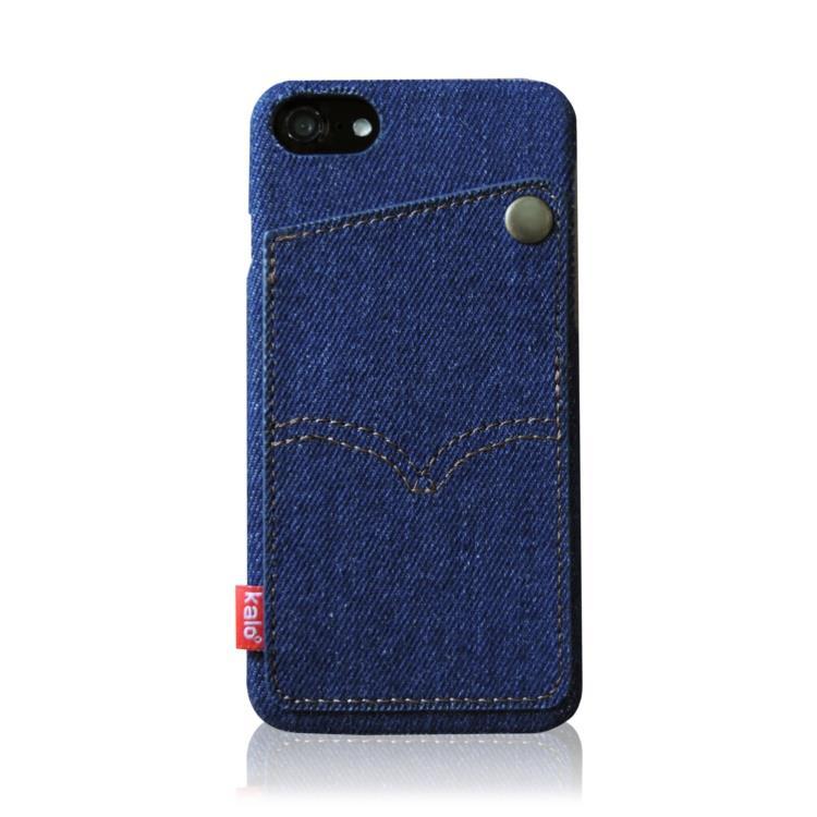 "Kalo 卡樂創意 iPhone 8 (4.7"") 個性丹寧口袋保護殼"
