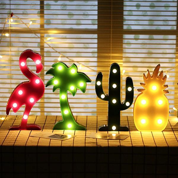 火烈鳥鳳梨仙人掌椰子樹LED造型燈/裝飾燈/氣氛燈(椰子樹)