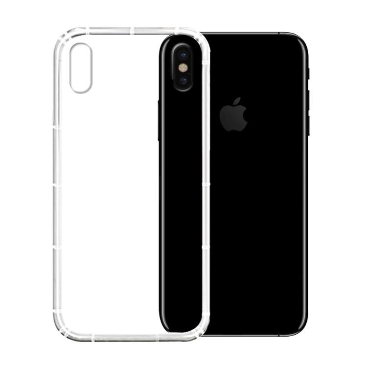iPhone X (5.8吋) 防摔抗震空壓手機殼-透明