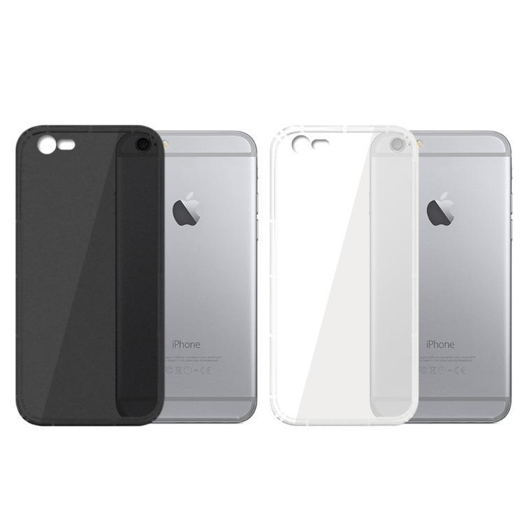 iPhone6 Plus/6s Plus 磨砂防摔抗震氣墊空壓手機殼 (兩色可選)-磨砂黑