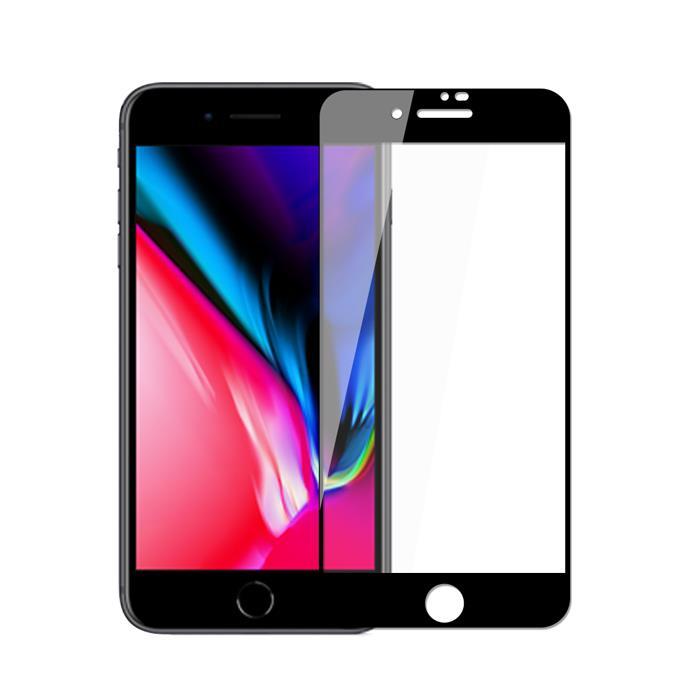 【Q&K】全覆蓋霧面iPhone8 (4.7吋)防指紋9H鋼化保護貼