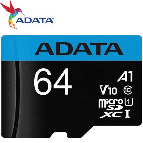 ADATA 威剛 64GB microSDXC TF UHS-I U1 A1 V10 記憶卡
