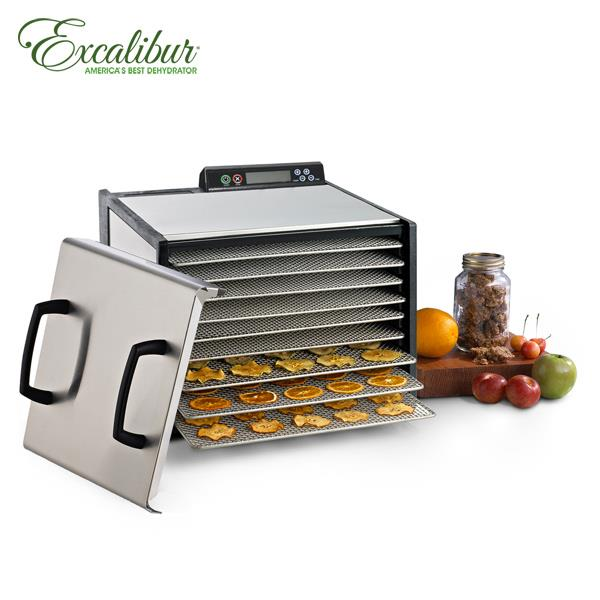 【Excalibur】伊卡莉柏不鏽鋼數位式乾果機-九層948SHD贈小烤箱