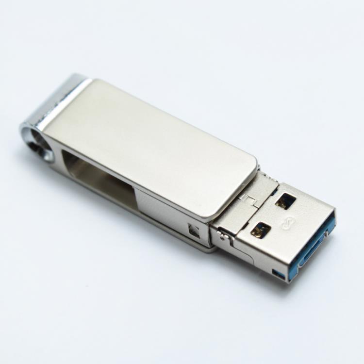 V-SMART TC303 三合一TYPE C OTG 隨身碟-16GB 霧銀