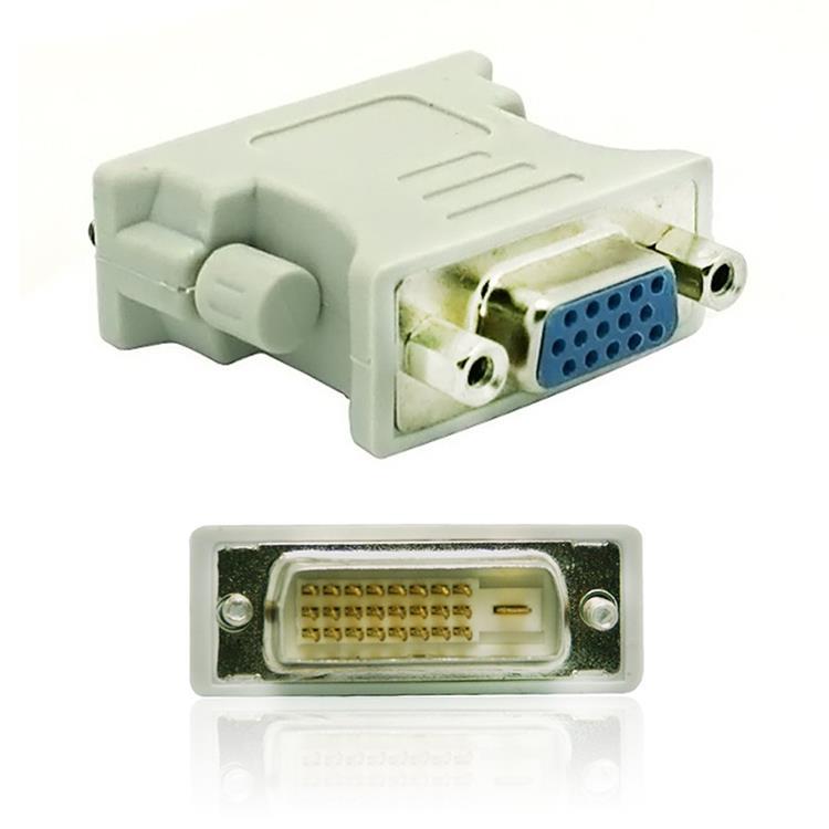 24+1 DVI 公轉VGA母轉接頭(2入)