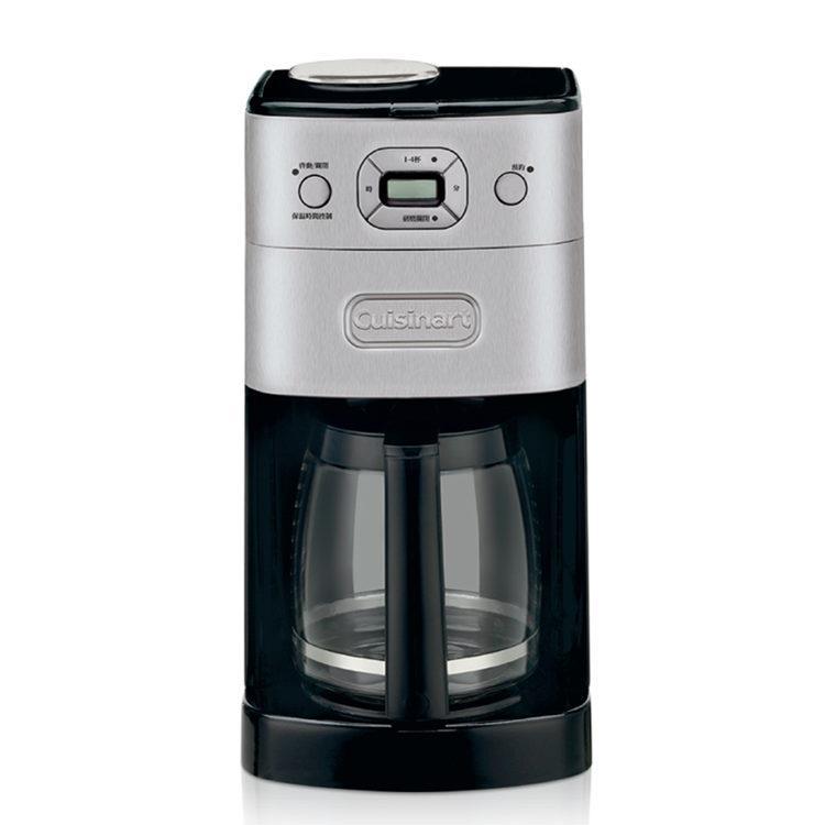 (加贈1磅咖啡豆(【Cuisinart 美膳雅】12杯全自動研磨美式咖啡機 DGB-625BCTW