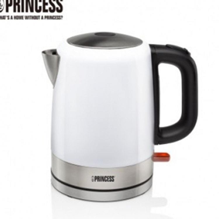 加贈玻璃隨手瓶《PRINCESS》荷蘭公主1L不鏽鋼快煮壺- (簡約白)2(236000R)